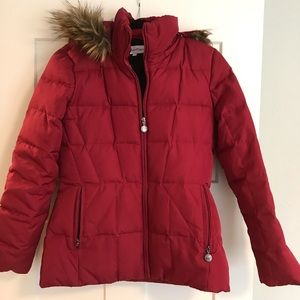 Calvin Klein red puffer size S